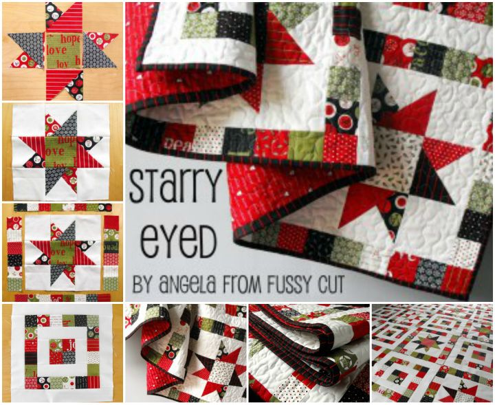 DIY Lovely Starry Eyed Patchwork Quilt