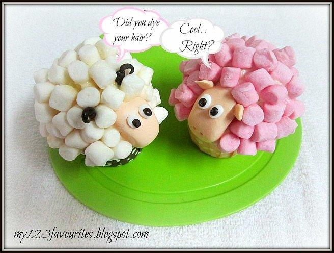 DIY Marshmallow Sheep Cupcakes5