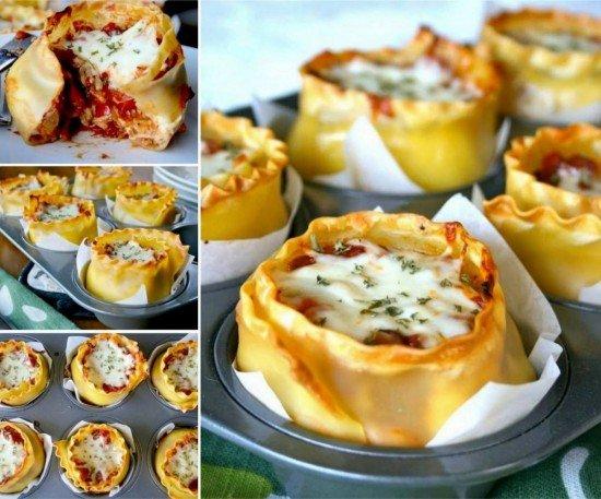 DIY Muffin Tin Lasagna Cups Recipe