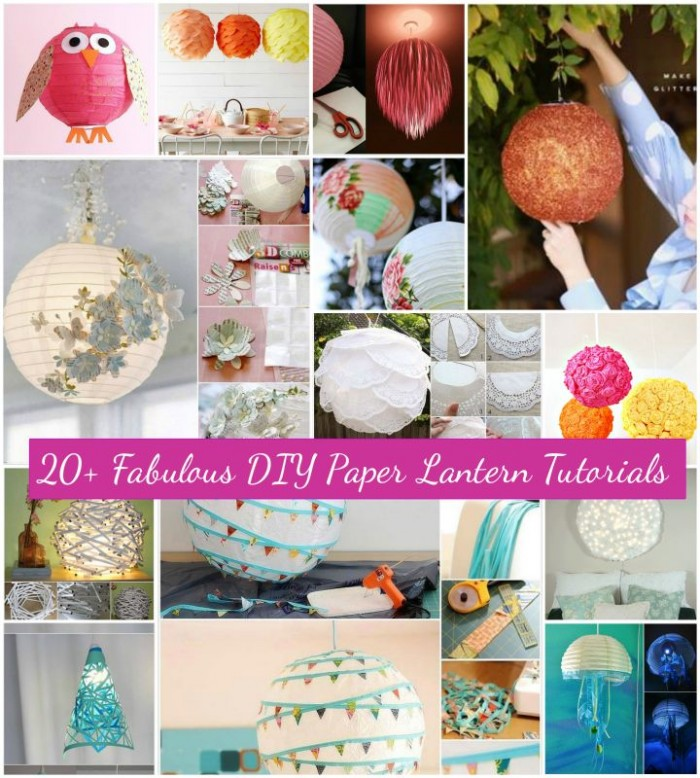 DIY Paper Lanterns and Lamps