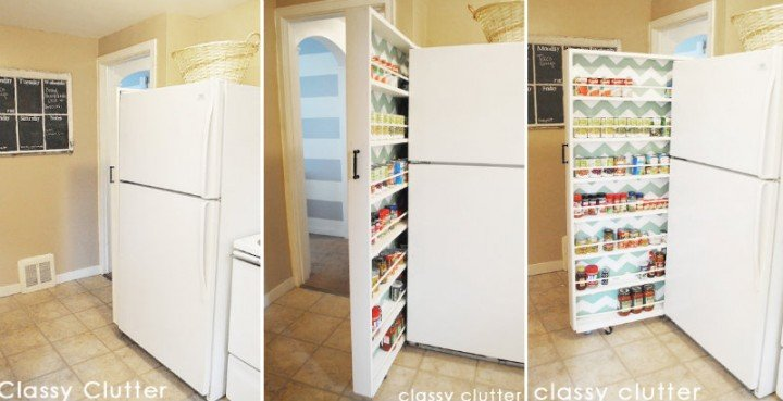 How to DIY Space Saving Pull-Out Pantry Cabinet tutorial
