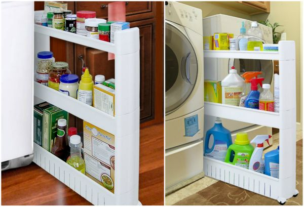 How to diy space saving pull out pantry cabinet - Space saving cabinet ideas ...