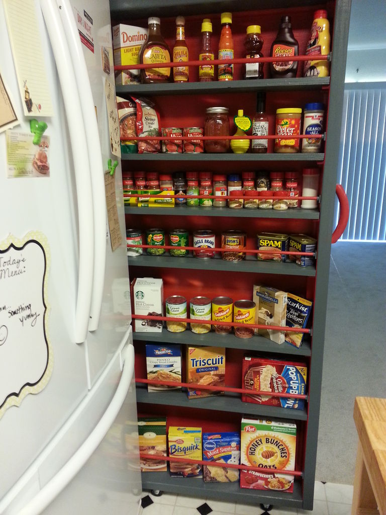 Pantry cabinet slide out pantry cabinets with reinstall - Roll out shelving for pantry ...