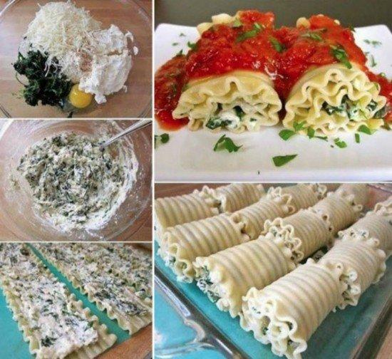 DIY Spinach Lasagna Roll Ups