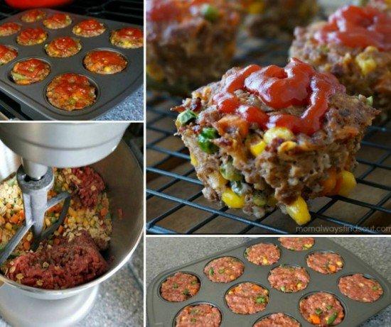 DIY Vegetable Meatloaf Muffins