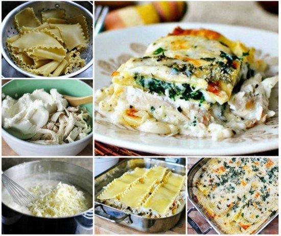 Chicken spinach lasagna roll ups for Spinach chicken lasagna recipe