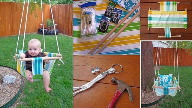 Fabulous DIY Patio and Garden Swings04-Hammock-Type baby swing