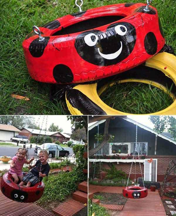 Fabulous DIY Patio and Garden Swings06