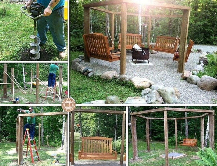 20 fabulous diy patio and garden swings www fabartdiy for Diy adult swing set