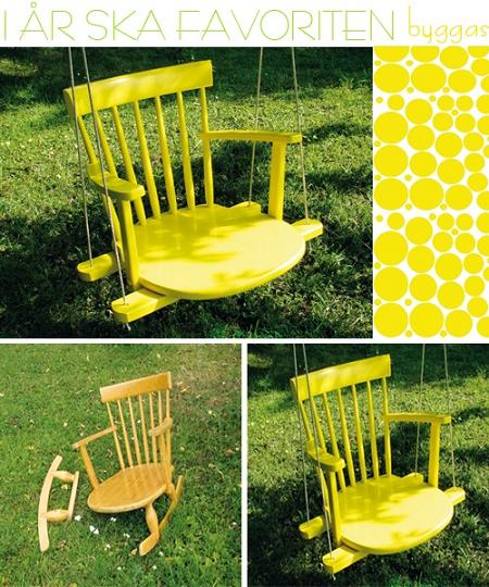 Fabulous DIY Patio and Garden Swings16A- Rocking Chair Tree Swing