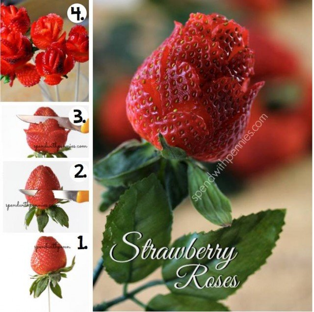 How To Make Strawberry Roses(Video)