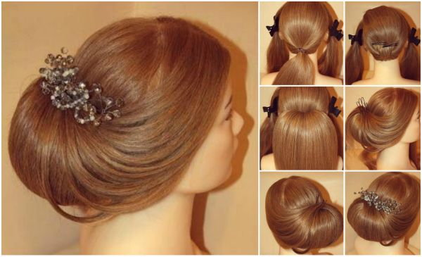 How to DIY Elegant Roll Up Wedding Updo Hairstyle
