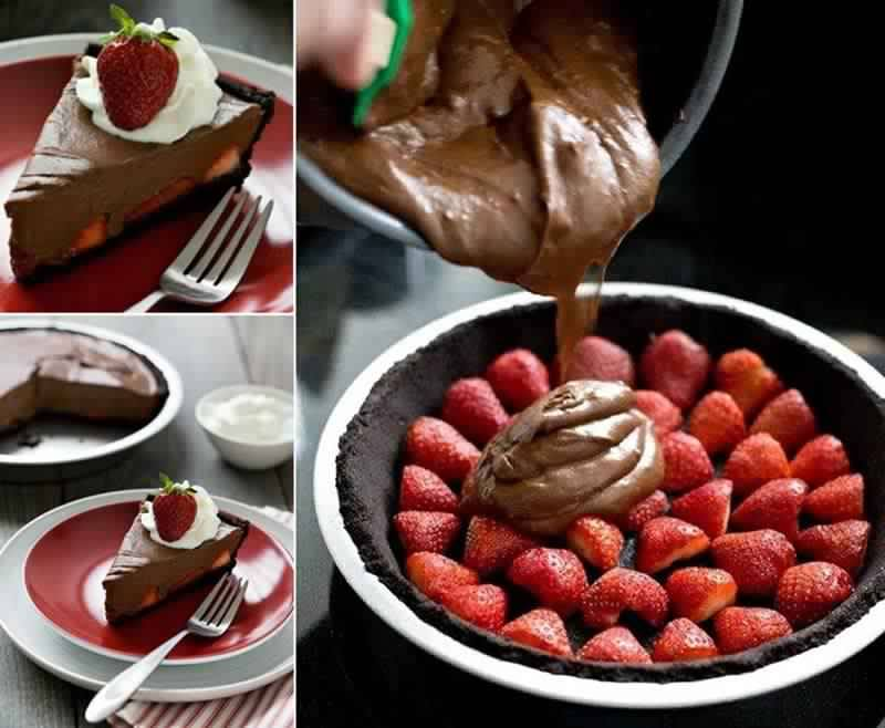 How to DIY Chocolate Strawberry Oasis Pie