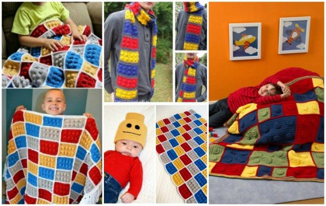 How to DIY Crochet Lego Blanket and Scarf Pattern