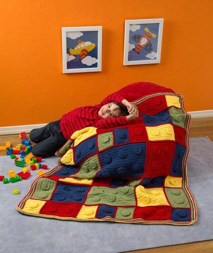 DIY Crochet Lego Blanket Free Pattern