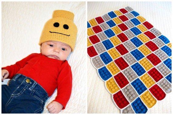 DIY Crochet Lego Blanket