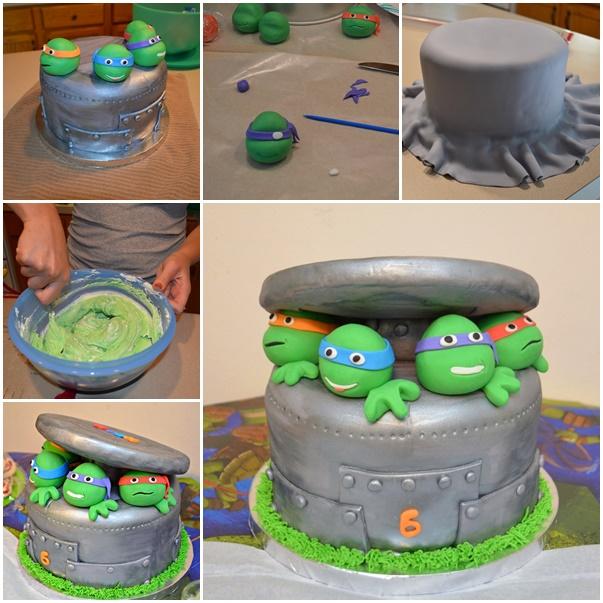 How to DIY Ninja Turtle Cake Tutorial
