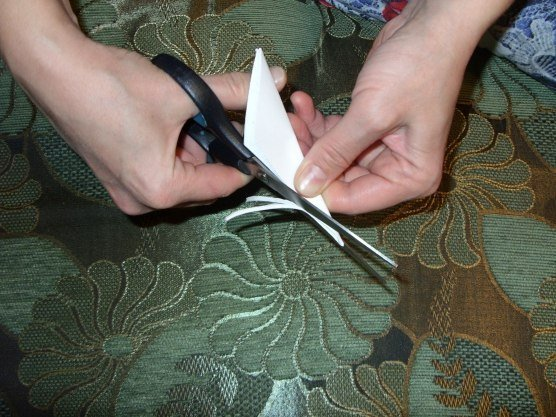How to DIY Paper Feather Snowflake7