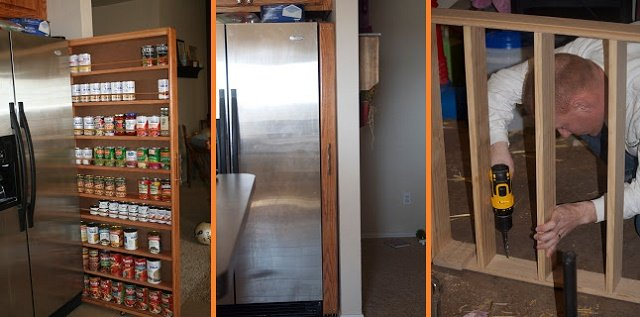 Kitchen Cabinets Pull Out Pantry With How To DIY Space Saving PullOut  Pantry Cabinet With Pantry