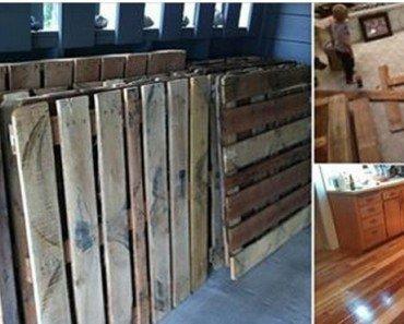 How To DIY Pallet Wood Floor (Picture Tutorial)