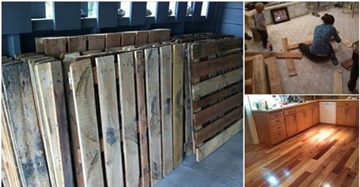How to DIY Pallet Wood Floor (Picture Tutorial)
