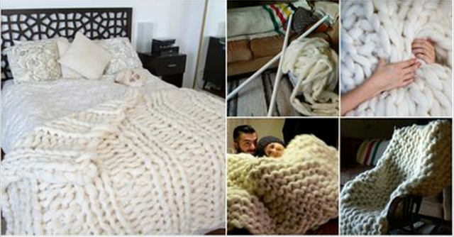 How to DIY Knit Cozy Giant Blanket with PVC Pipes