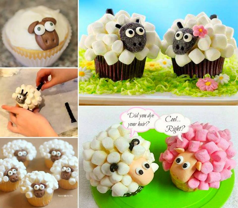 Cupcake Decorating Ideas With Marshmallows : How to DIY Marshmallow Sheep Cupcakes - www.FabArtDIY.com