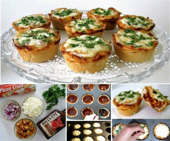 Mini Deep Dish Cupcake Pan Pizzas