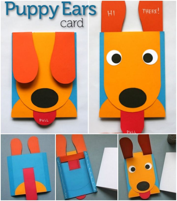 Paper Puppy Pop Up Greeting Card
