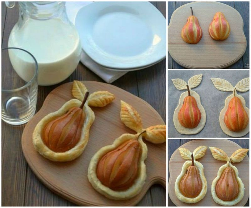 Diy pear in puff pastry for Pear recipe ideas