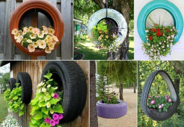 how to diy recycled tire teacup planters video