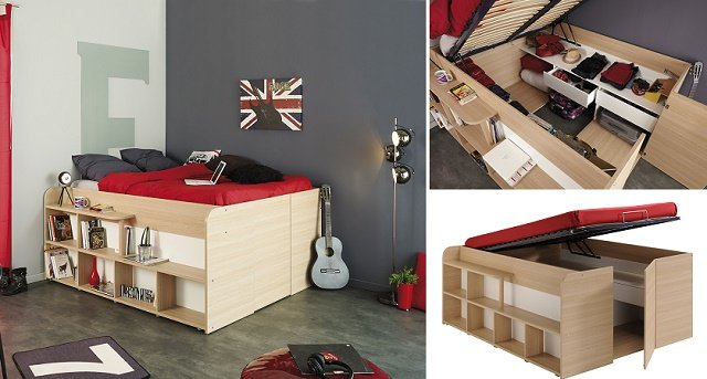 Space-Up Double Bed diy inspiration