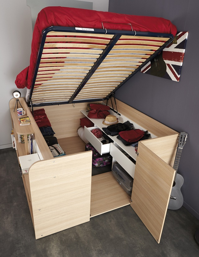 Space-Up Double Bed (Video) & DIY King Size Storage Bed Tutorial