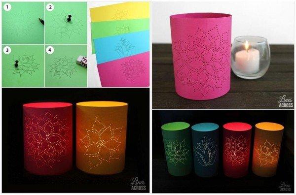 20+ Fabulous DIY Paper Lantern Ideas and Tutorials - diy Thumb Tack Paper Lanterns