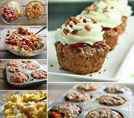 Vegetable Meatloaf Muffins2