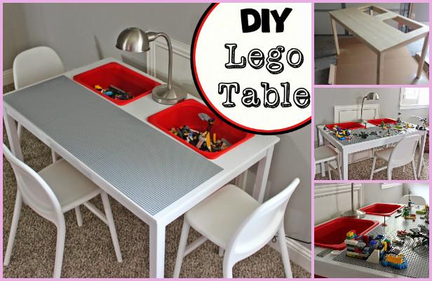 IKEA Lego Table DIY Ideas: Transform IKEA Table Into Lego Play Table