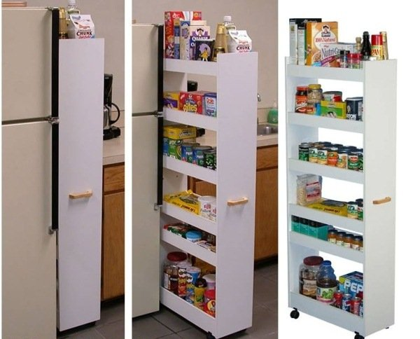 How to diy space saving pull out pantry cabinet for Muebles para despensa cocina