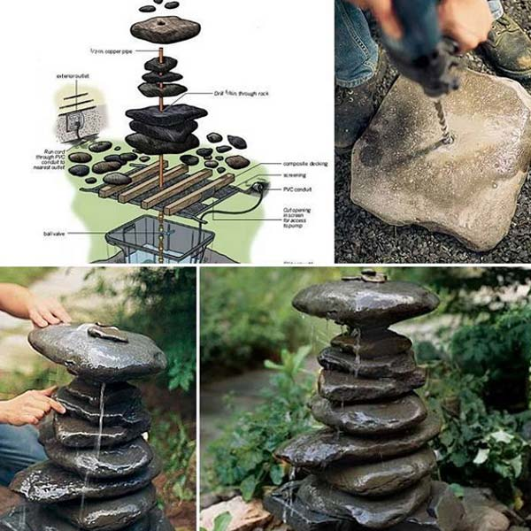 26 Fabulous Garden Decorating Ideas With Rocks And Stones: 20+ DIY Garden Decorating Ideas With Rocks And Stones