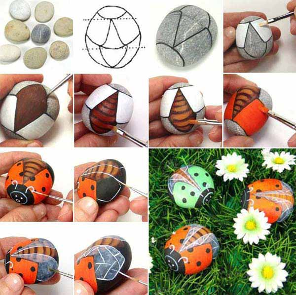 20+ Fabulous DIY Garden Decorating Ideas with Pebbles and Stones17