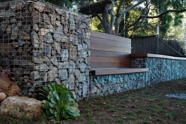 20+ Fabulous DIY Garden Decorating Ideas with Pebbles and Stones23-Serpentine Stone Walls