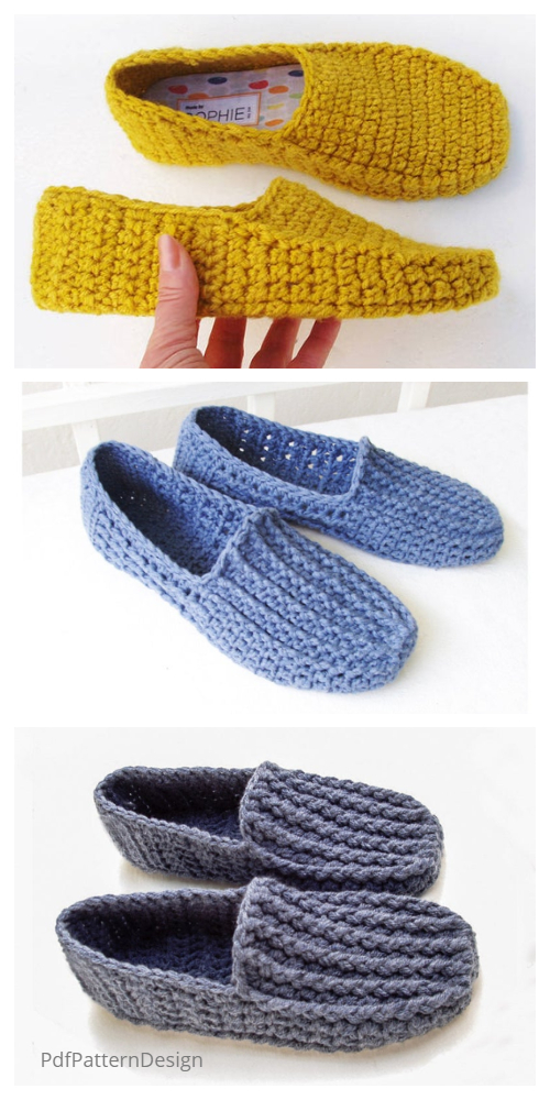 Adult Loafer Slippers Crochet Patterns