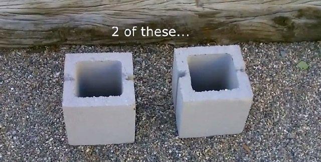 DIY Concrete Block Dual Burner Rocket Stove3