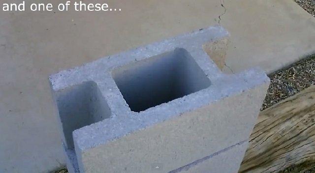 DIY Concrete Block Dual Burner Rocket Stove4