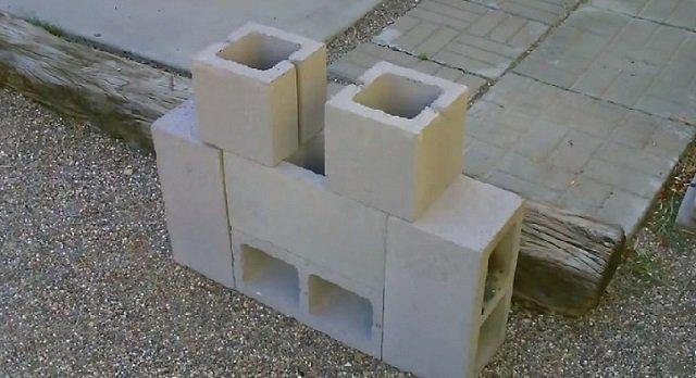 DIY Concrete Block Dual Burner Rocket Stove6