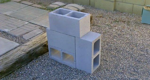 DIY Concrete Block Rocket Stove4