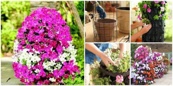 DIY Easter Egg Flower Tower Tutorial