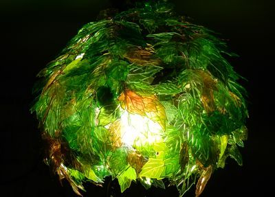 DIY Leaf Lamp Shade from Plastic Bottles