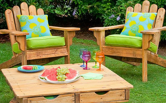 outdoor pallet furniture ideas. 20 diy outdoor pallet furniture ideas and tutorialsadirondack chair from one