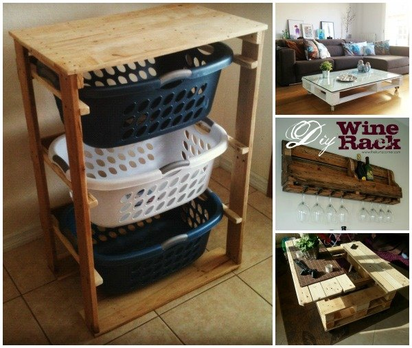 DIY Pallet Home Decorating And Furniture Projects Tutorials