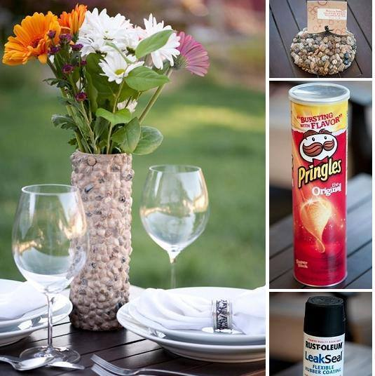 DIY Pebbled Flower Vase